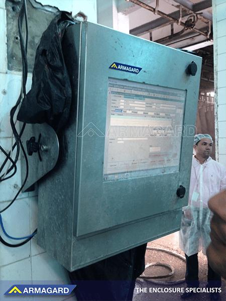 Gabinetes a prueba de agua para instalaciones de fabricacion de alimentos