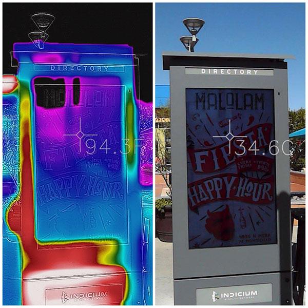 armarios LCD que mantienen las pantallas frías