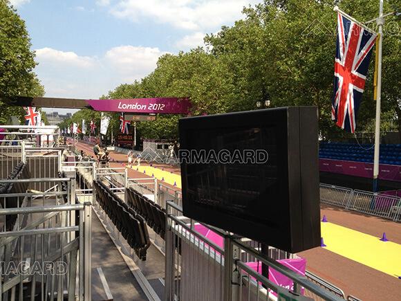 Cartel digital exterior en The Mall en los Juegos Olímpicos de Londres 2012