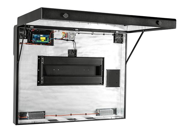 control térmico de la señalización digital exterior