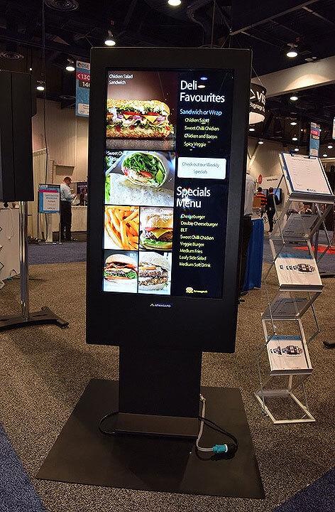 Paneles digitales de menús de servicio