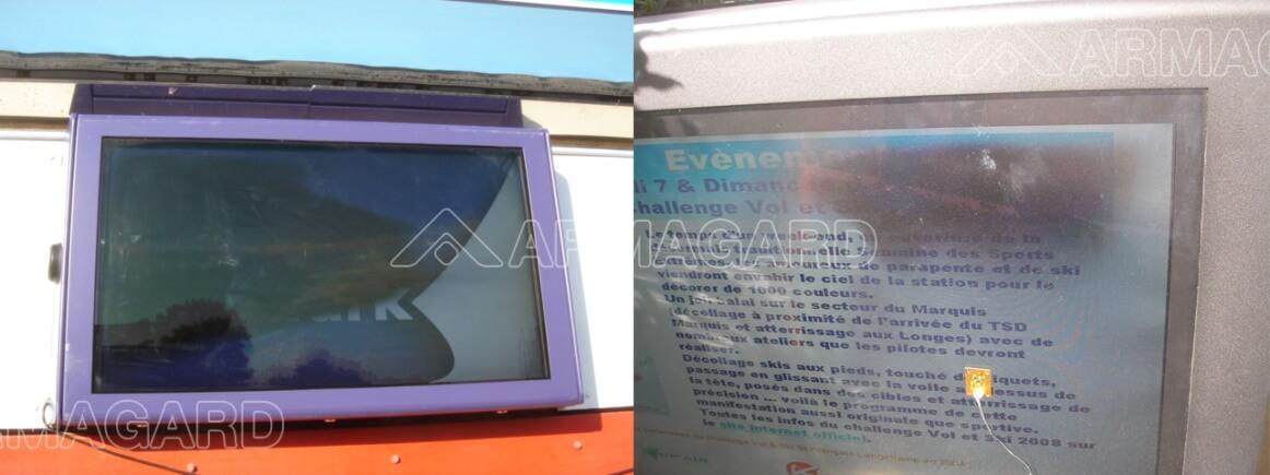 Instalación del armario LCD - Instalación de Digital Signage
