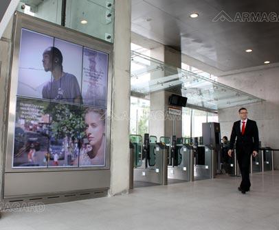 Digital Signage en la Estación del Teleférico Emirates de Londres