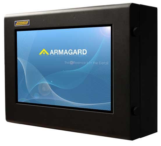 Armario LCD 19 vista lateral mostrando cerraduras