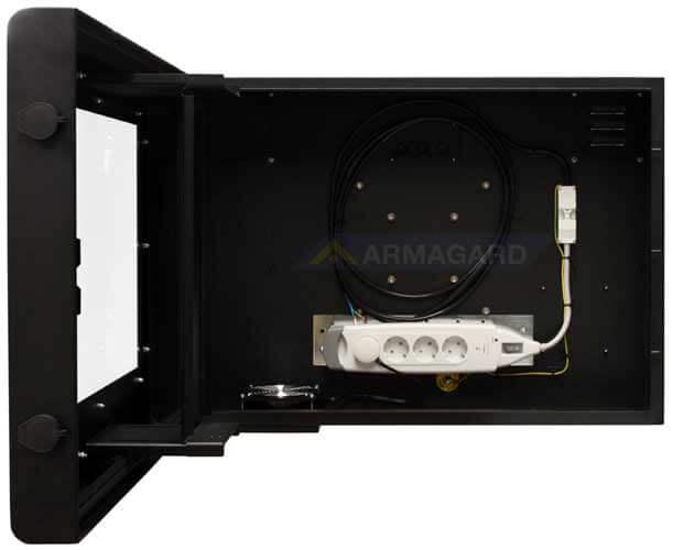 Armario LCD 19 vista frontal abierto | PDS-24