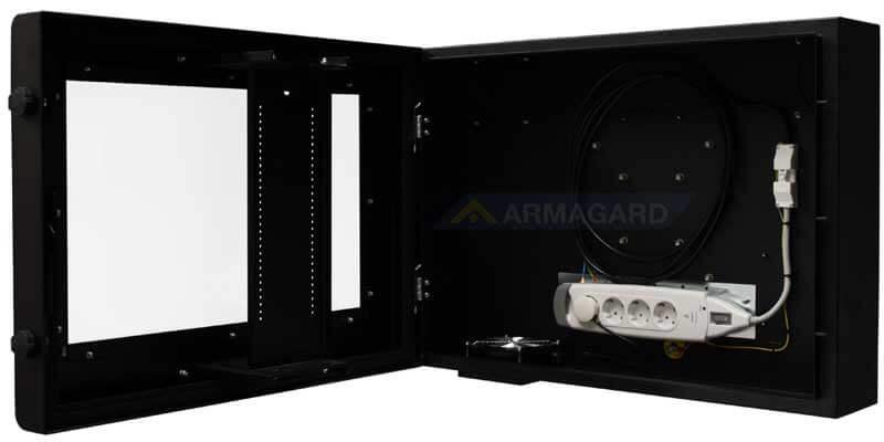 Armario LCD 19 vista lateral abierto | PDS-24