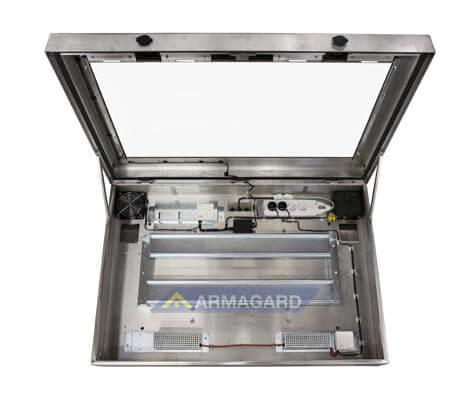Armario LCD lavado alta presion – vista frontal abierto
