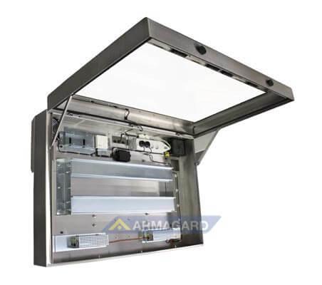 Armario LCD lavado alta presion – vista lado Izquierdo abierto