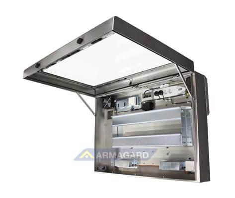 Armario LCD lavado alta presion – vista lado derecho abierto