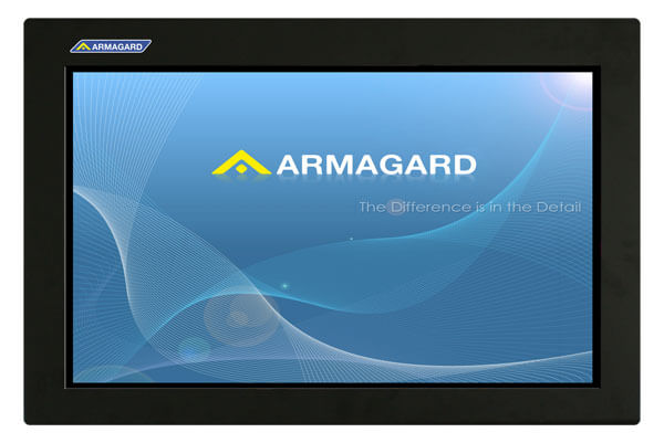 Armarios LCD vista frontal con pantalla