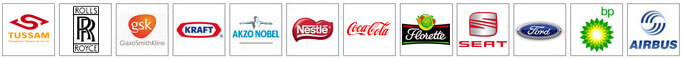 Logos de algunas de las empresas que utilizan productos Armagard