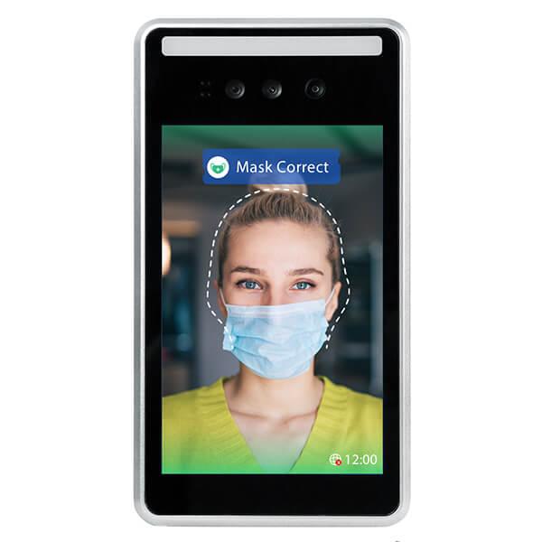 termómetro de reconocimiento facial - Vista frontal