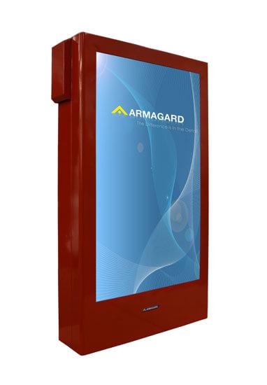 Nuestro armario vertical en color rojo personalizado   PDS-W-P