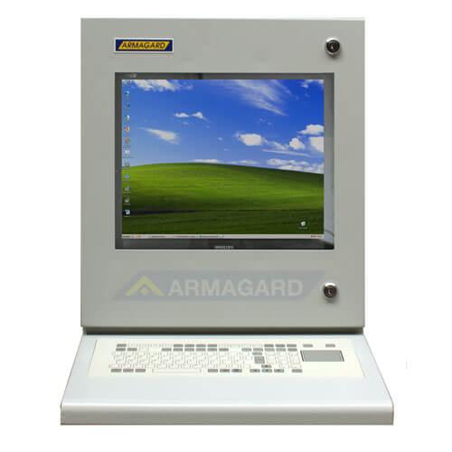 Armario PC Compacto PENC-300 vista frontal con teclado touchpad