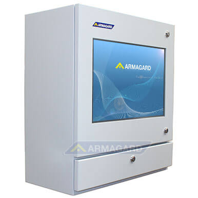 PC táctil para planta industrial vista lateral izquierda | PENC-550