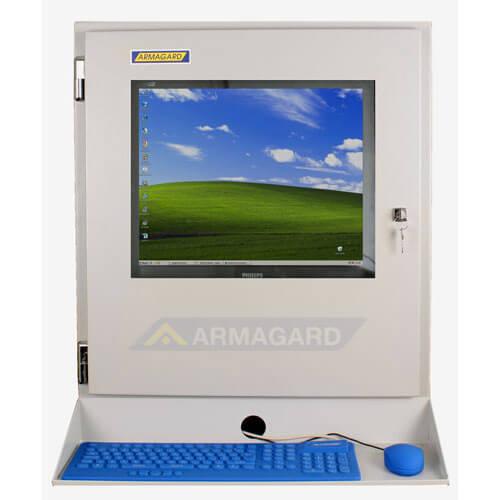 Armario con Teclado PENC-700 vista frontal con bandeja para teclado.
