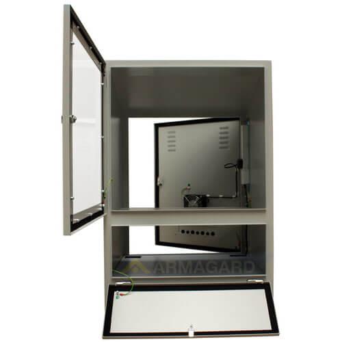Gabinetes industriales para PC PENC-900 vista frontal puertas abiertas