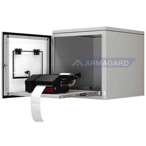 Armario Impresora Etiquetas IP54 acero ppri400 con impresora de etiquetas