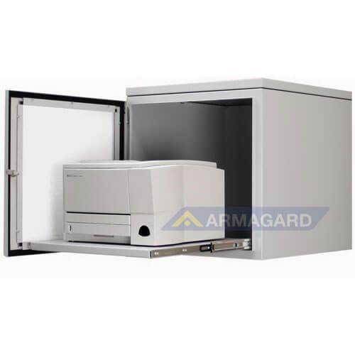 Armario Impresora Etiquetas IP54 acero ppri400 con impresora láser dentro