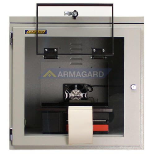 Armario Impresora Etiquetas IP54 acero ppri-400 puerta de acceso abierta