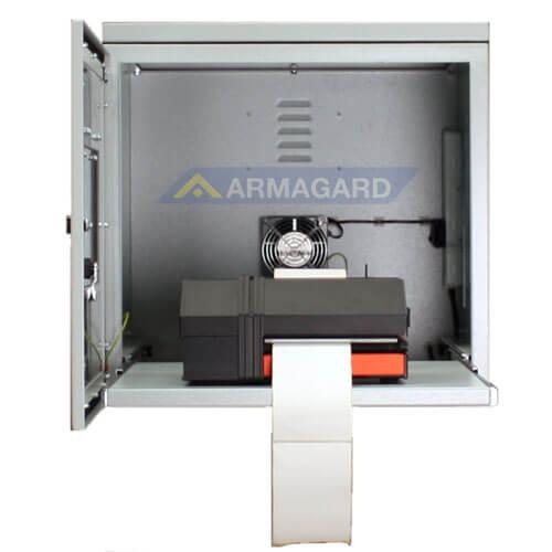 Armario Impresora Etiquetas IP54 acero ppri-400 puerta frontal abierta