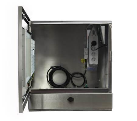 PC industrial tactil inox senc-450 - vista frontal puerta abierta