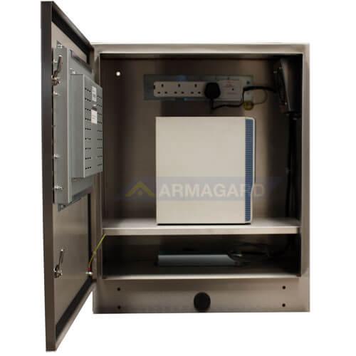 PC Industrial Tactil Estanco Inox IP65 SENC-750 vista frontal abierta