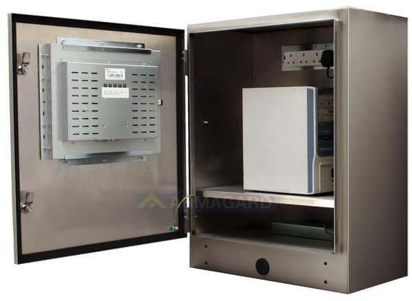 PC Industrial Tactil Estanco Inox IP65 SENC-750 vista lateral abierto