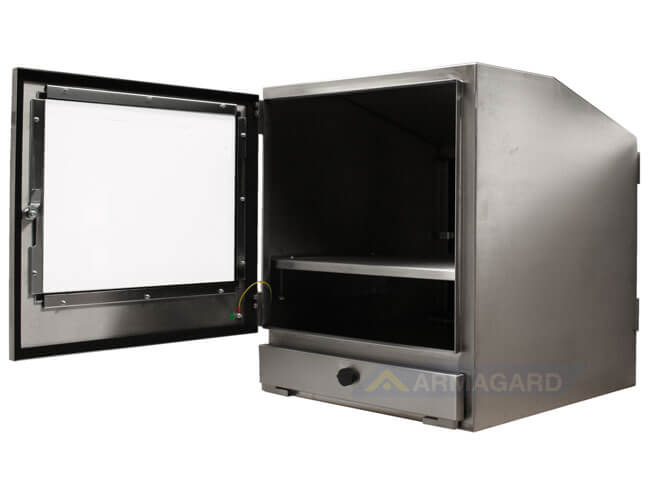 Armario pc IP65 vista lateral puerta abierta   SENC-800