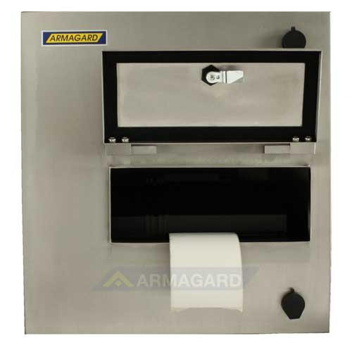 armario inox impresora zebra - vista frontal mostrando etiqueta