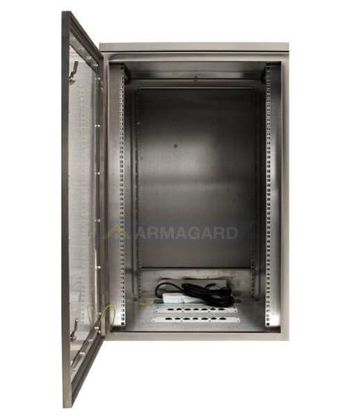 Armario rack para servidores - puerta frontal abiertas