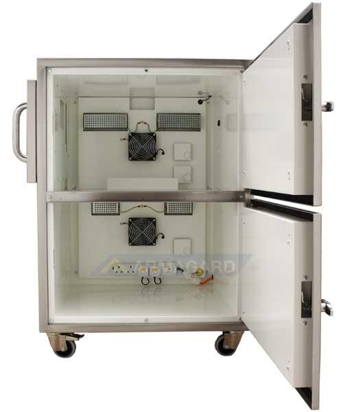 Impresora Temperatura Extrema puertas laterales abiertas