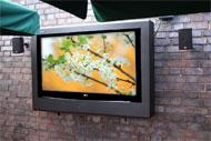 Armario televisión exterior de Armagard en una terraza