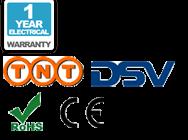 1 años de garantía, envío, CE y logos RoHs
