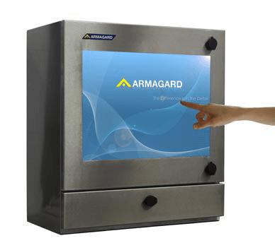 armario PC con pantalla táctil y estanco SENC-550