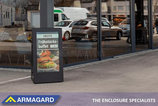 carteles digitales portátiles para exteriores para su cafetería