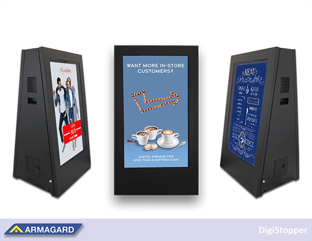 Los carteles digitales portátiles para exteriores versátil para las cafeterías